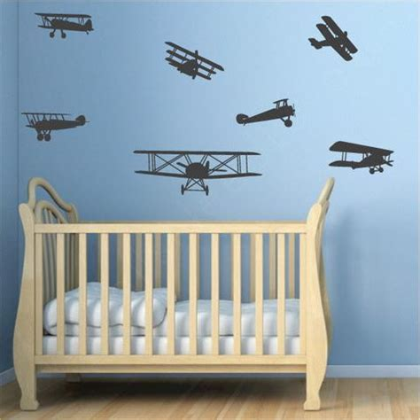 Airplane Wall Decals For Nursery Airplanes Nursery Wall Decals Wallsneedlove