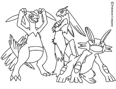 pokemon coloring pages mega blaziken blaziken and friends coloring pages hellokids com
