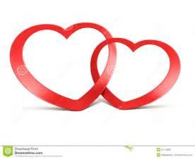 imagenes de dos corazones unidos twee aangesloten bij rode harten op wit stock illustratie