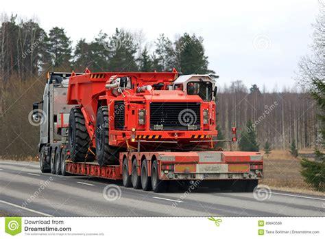 volvo semi transports mining equipment editorial stock photo image  logistics industry