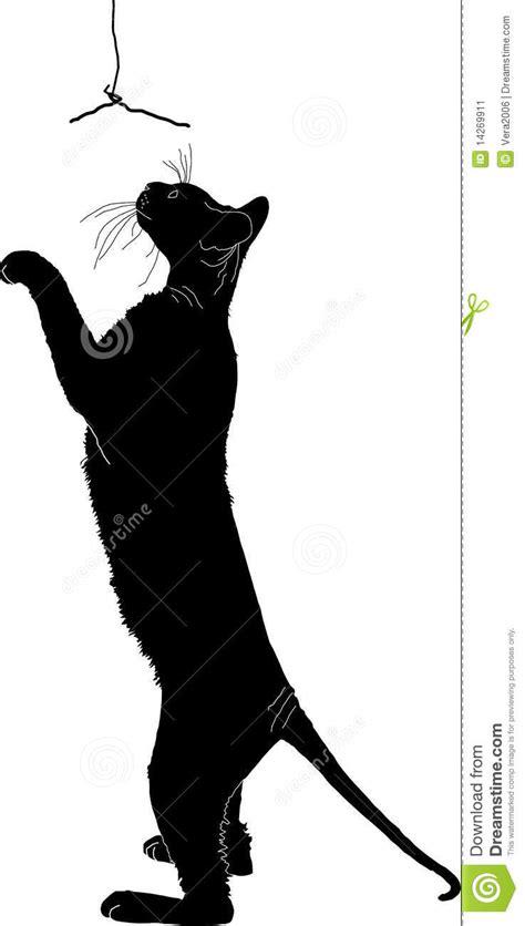 Silhueta de um gato ilustração do vetor. Ilustração de