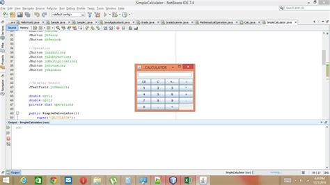 simple java swing program simple calculator using java swing free source code