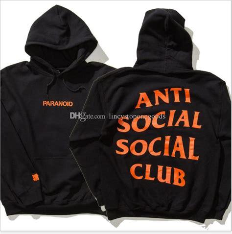 Hoodie Anti Social Social Club Assc Hitam 2 2017 anti social club mens pullover trasher vlone print hoodies fleece sweatshirts vision
