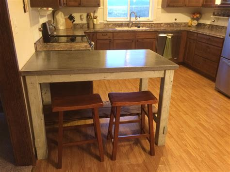 my do it yourself kitchen island with concrete countertops ana white kitchen island with concrete countertop diy