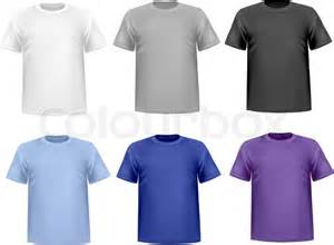 color t shirts black and color t shirts photo realistic vector