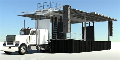 mobil stage cj semi trailer stage mobile stage truck