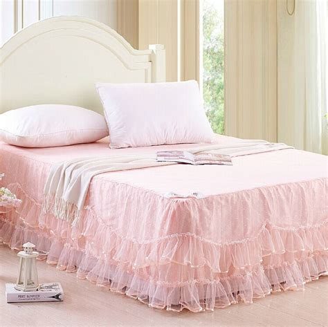 Beige Bed Skirt by Lace Bed Skirt Bed Skirt For Bedding Set Pink Beige