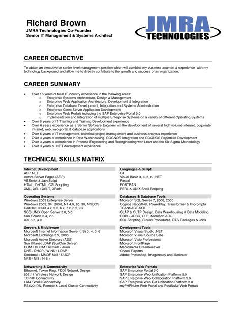 it career objective career objective on resume template learnhowtoloseweight net