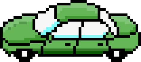 pixel car clipart pixel car green side