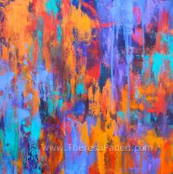 paintings by theresa paden abstract modern art colorful