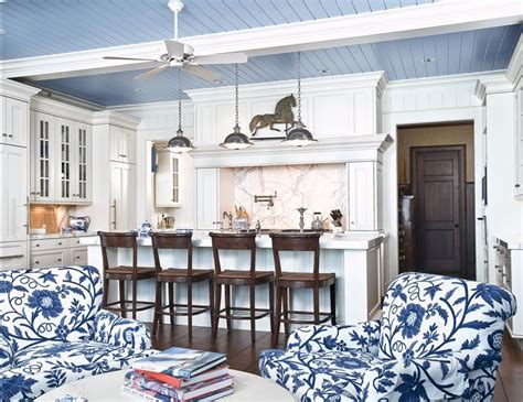Houzz Ceilings by Delorme Designs Blue Beadboard Ceilings