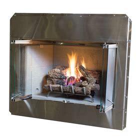 gas fireplace insert lowes shop 44 in w 41 000 btu steel vent free single burner gas