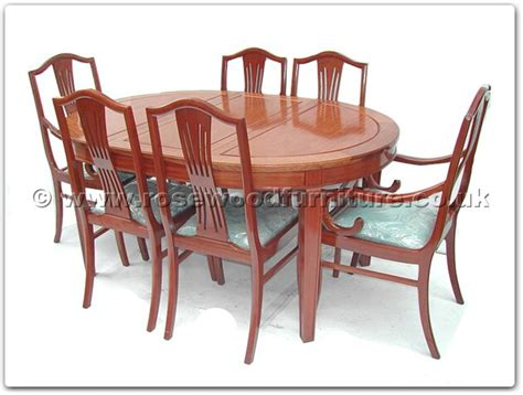 rosewood monaco style oval dining table with 2 4 chairs