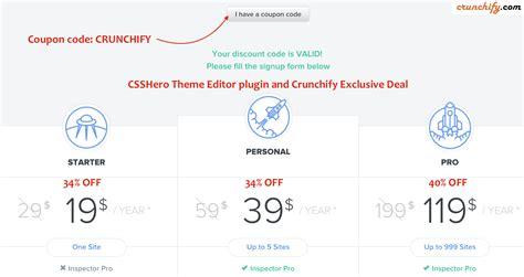theme generator plugin csshero theme editor plugin and crunchify exclusive deal