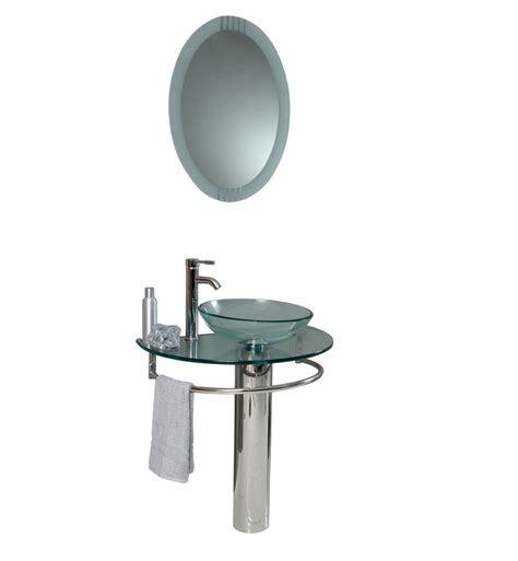 29 inch bathroom vanity 29 5 inch modern glass bathroom vanity with frosted edge mirror uvfvn106029