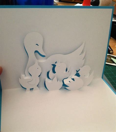 Origami Pop Up Card Templates by Popup Card Duck Free Template Search Popup