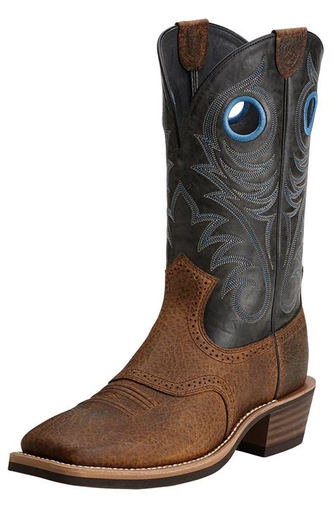 wide mens cowboy boots ariat 174 mens heritage roughstock wide square toe cowboy