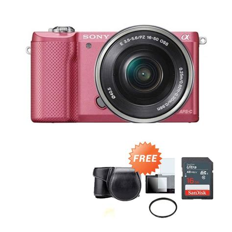 Kamera Sony Mirrorless A5000 jual sony alpha a5000 lensa 16 50mm kamera mirrorless