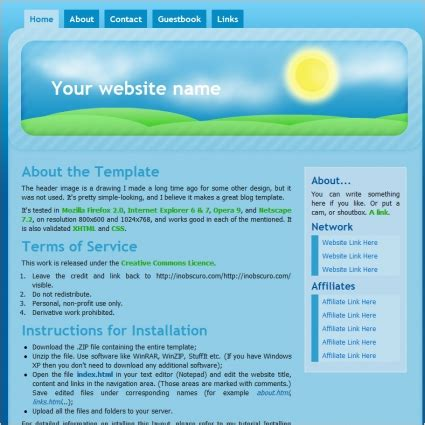 good templates for website free download good morning template free website templates in css html
