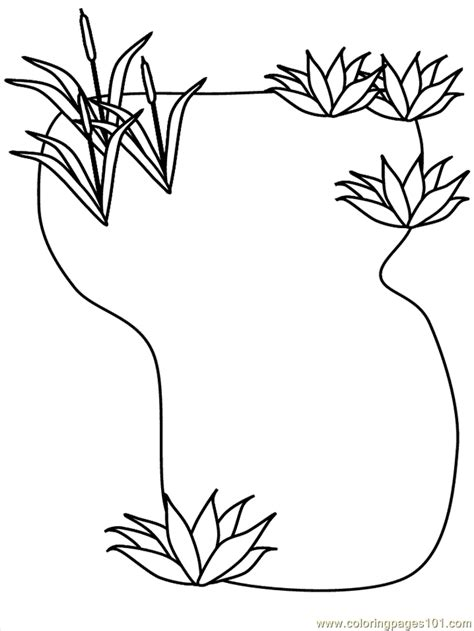 Coloring Pages Pond Peoples Gt Others Free Printable Pond Coloring Page