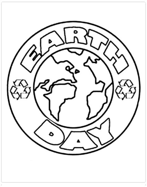 earth day coloring pages preschool free printable earth day coloring page for preschool