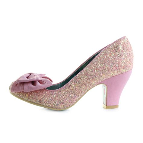 nick shoes womens irregular choice nick of time pink gold high heel
