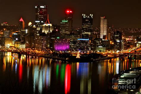 pittsburgh christmas at night by jay nodianos