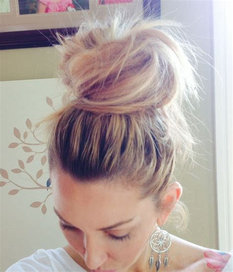 792 best hair tutorials images on pinterest messy top knot bun tutorial three bird nest make up