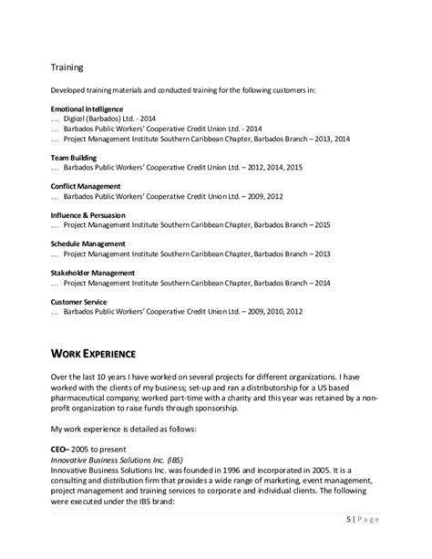 Detailed Curriculum Vitae by Detailed Curriculum Vitae Colleen Inniss Gittens