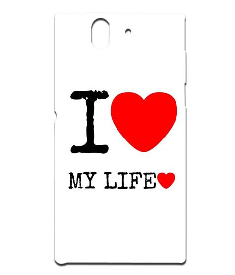 design is my life mobile case print design i love my life for sony l 36