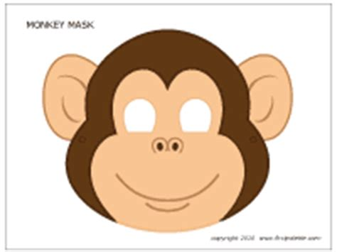 monkey mask template monkey mask printable templates coloring pages