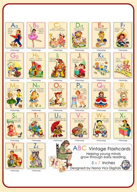 printable vintage alphabet flash cards alphabet flash cards abc vintage digital printable for early
