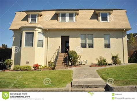 how tall is a 2 story house two story house with small lawn stock photos image 26485893