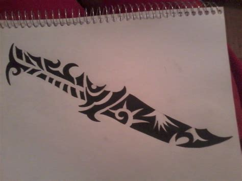 tribal tattoos knife tribal knife by valdric vonulrich on deviantart