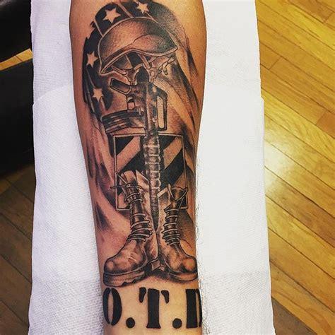 fallen soldier tattoo fallen soldier forearm veteran ink
