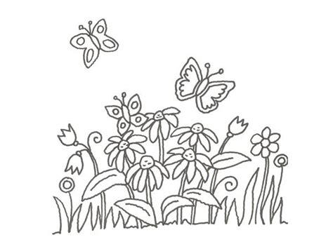 imagenes de mariposas y flores para imprimir dibujo de mariposas y margaritas para pintar con ni 241 os