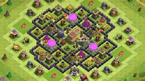 town hall 8 hybrid base clash of clans town hall 8 hybrid base youtube