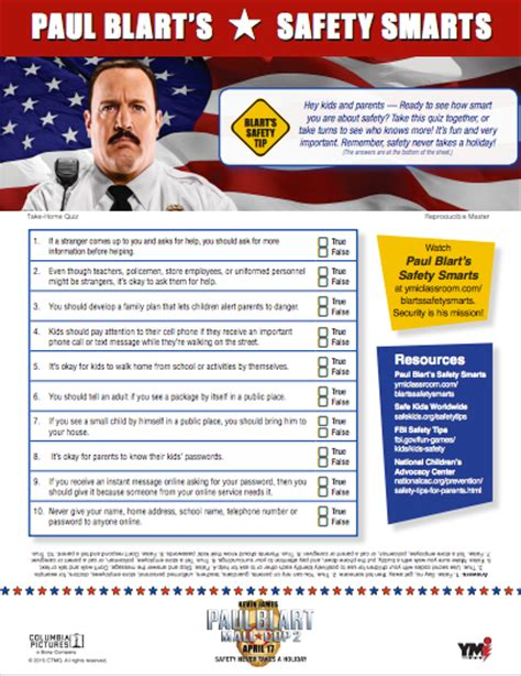 film quiz pauls free printable safety smarts inspired by paul blart mall