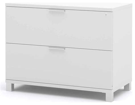 Bestar Lateral File Cabinets White Reviews Houzz White Lateral Filing Cabinet