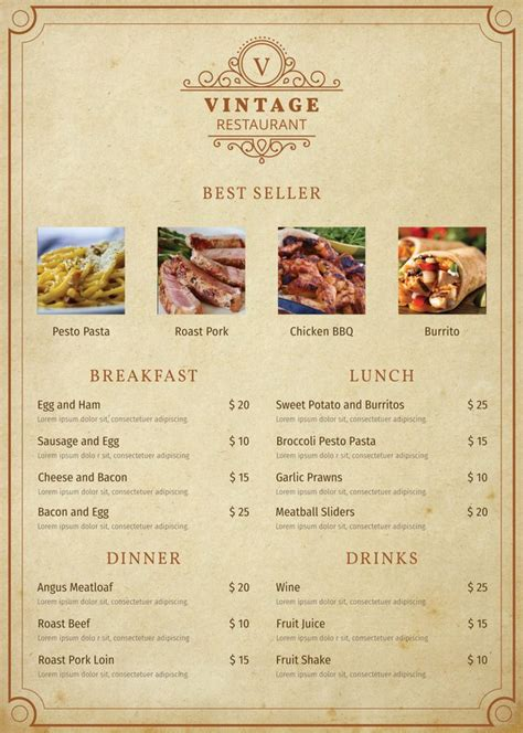 menu template pdf menu card templates 58 free word psd pdf eps