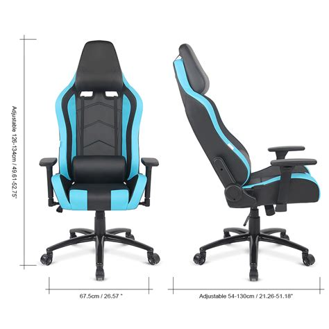 gaming office desk blue ikayaa ergonomic racing gaming office computer desk