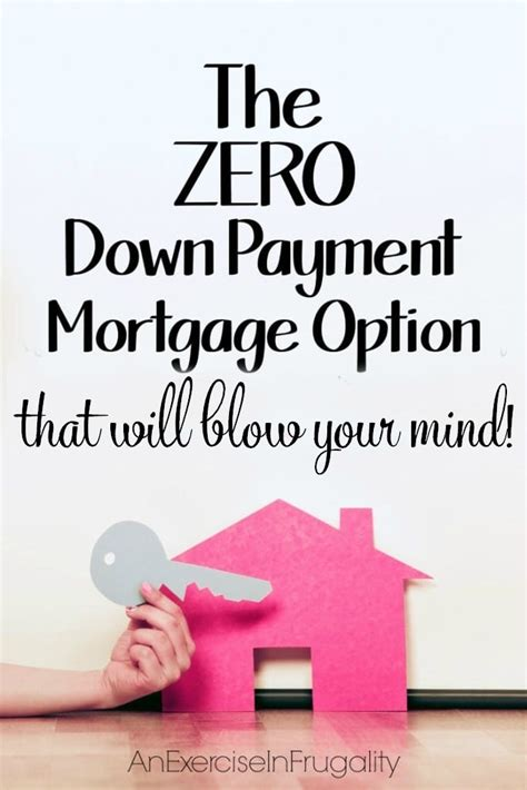 house loan without down payment no down payment mortgage option an exercise in frugality
