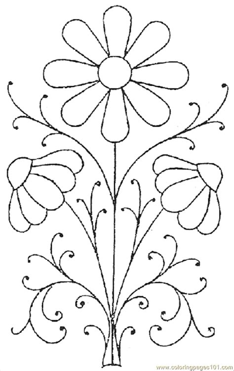 flower drawing templates free coloring pages of flower patterns