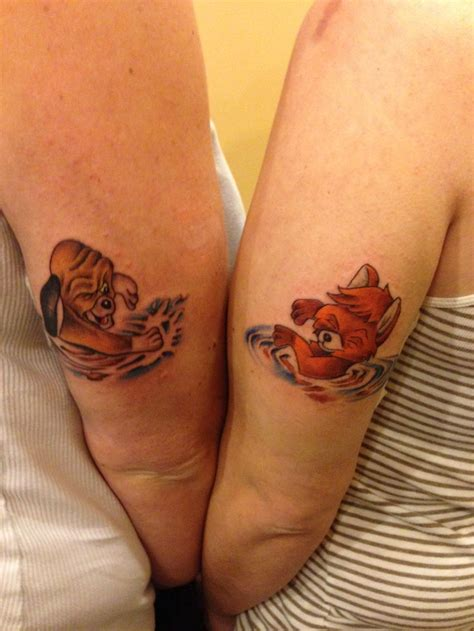 disney best friend tattoos best friend tattoos the fox and the hound copper and