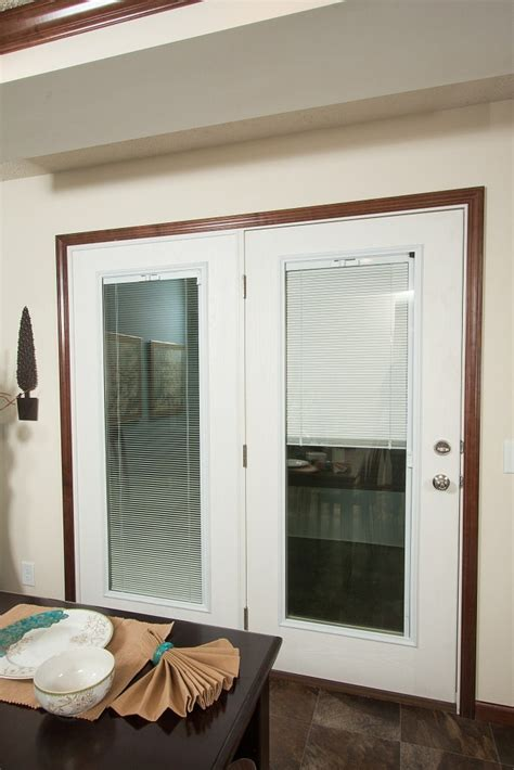 Swinging Patio Doors Swing Patio Door With Enclosed Blinds Our Own Home Pinterest Swings Patio And Doors