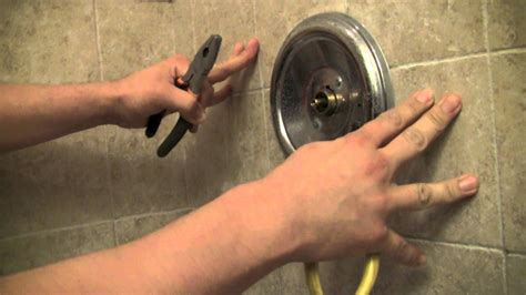bathtub fixture repair how to repair a moen shower faucet step by step my