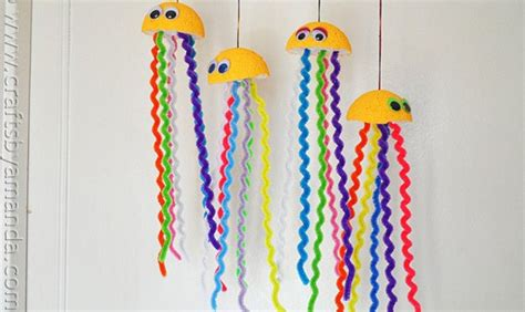 rainbow jellyfish craft easy kids craft crafts  amanda