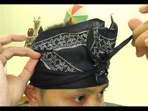 Blangkon Jogja Lipat By Wangisilmy tutorial cara membuat udeng bali iket lembaran how to