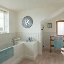 bathroom makeover photo: country bathroom with wooden panelling bathroom makeover photo