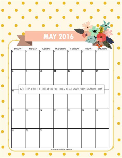 may 2016 calendar 12 free printable calendars for may 2016